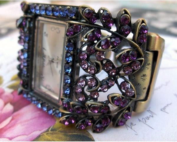 Montre bijou strass, Montre bracelet femme