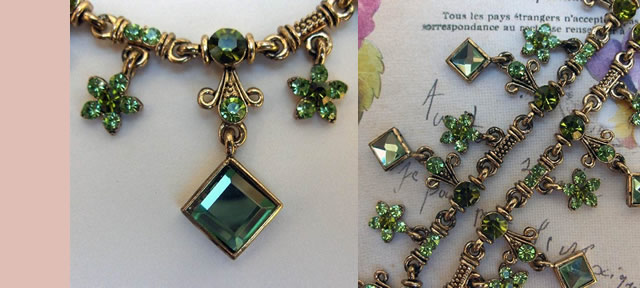 Parure de bijoux, Bijoux en cristal