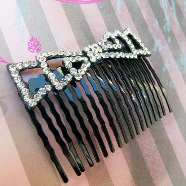 Peigne à cheveux en strass