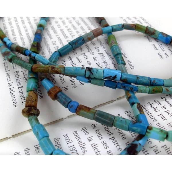 Collier Sautoir Perles Turquoises