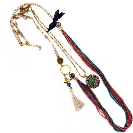 Long collier sautoir  rétro vintage